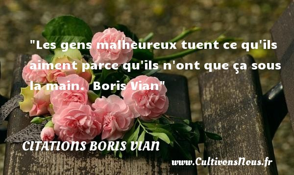 citations boris vian