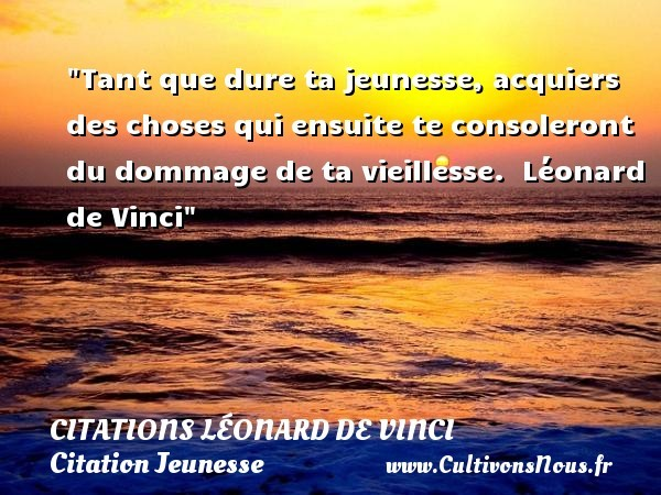 citations léonard de vinci