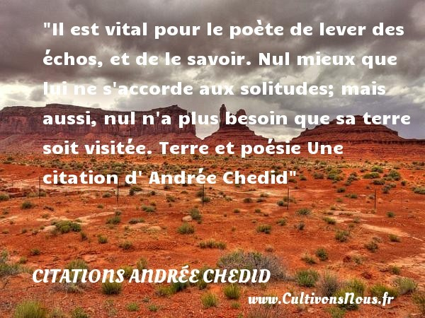 citations andrée chedid
