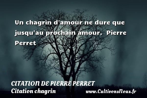 Citation de Pierre Perret - Citation chagrin - Un chagrin d amour ne dure que jusqu au prochain amour.   Pierre Perret   Une citation sur le chagrin CITATION DE PIERRE PERRET