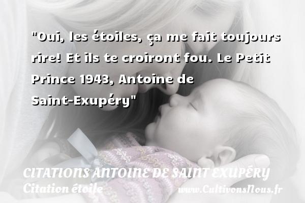 Oui Les étoiles Citations Antoine De Saint Exupéry