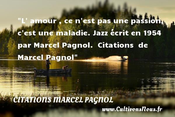 L Amour Ce N Est Pas Une Citations Marcel Pagnol