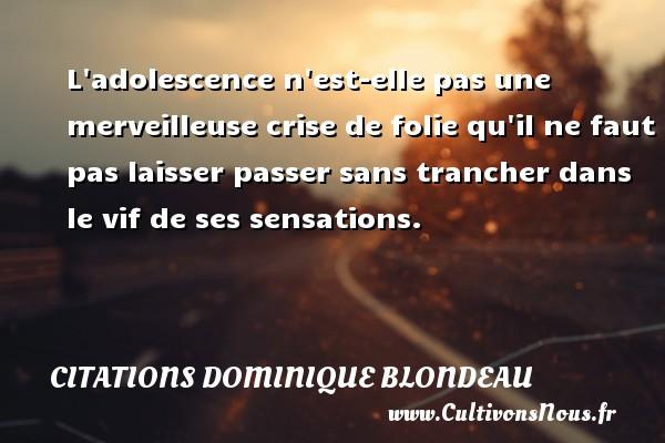 l'adolescence est elle une période d'insoucience ou une période de déc... 3ème Français