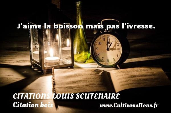 Citations Louis Scutenaire - Citation bois - J aime la boisson mais pas l ivresse. Une citation de Louis Scutenaire CITATIONS LOUIS SCUTENAIRE