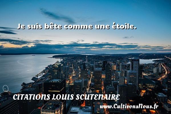 Je suis bête comme une étoile. Une citation de Louis Scutenaire CITATIONS LOUIS SCUTENAIRE