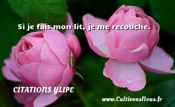 Citations Ylipe - Si je fais mon lit, je me recouche. Une citation d  Ylipe CITATIONS YLIPE