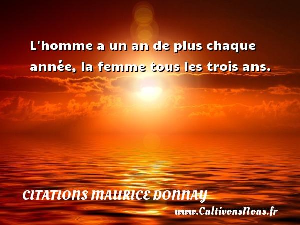 Citations Maurice Donnay - L homme a un an de plus chaque année, la femme tous les trois ans. Une citation de Maurice Donnay CITATIONS MAURICE DONNAY