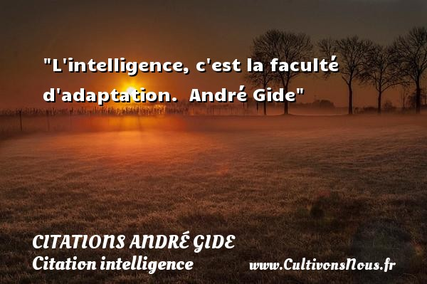 L Intelligence C Est La Faculté Citations André Gide