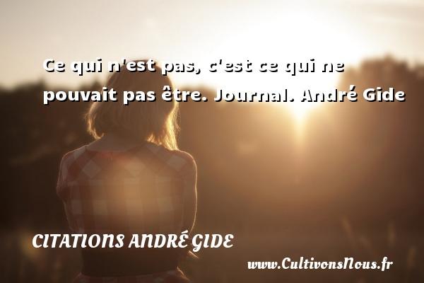 Ce qui n est pas, c est ce qui ne pouvait pas être.  Journal. André Gide CITATIONS ANDRÉ GIDE - Citations André Gide