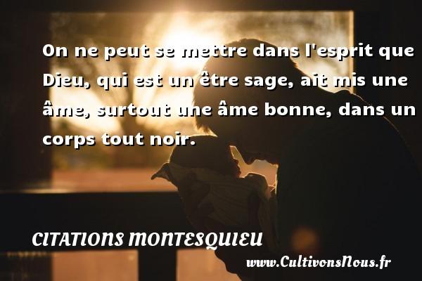 on ne peut se mettre dans l u0026 39 esprit que dieu  qui est un  u00eatre sage  une citation de montesquieu