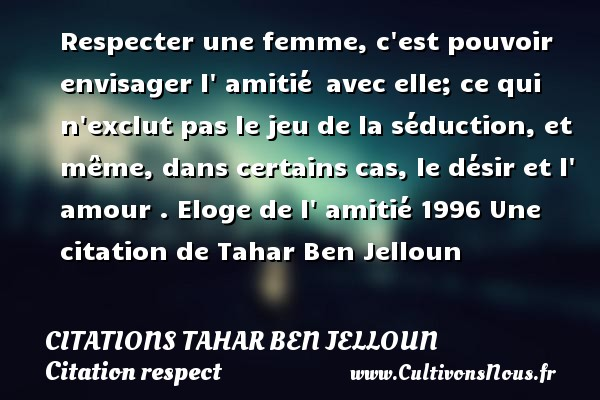 Citation Du Respect De La Femme Forumhulp