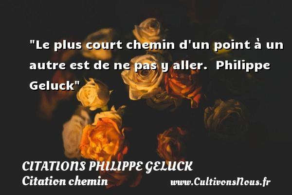 Le plus court chemin d un point à un autre est de ne pas y aller.   Philippe Geluck   Une citation sur le chemin CITATIONS PHILIPPE GELUCK - Citation chemin