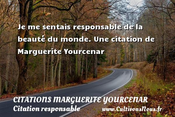 Je Me Sentais Responsable Citations Marguerite Yourcenar