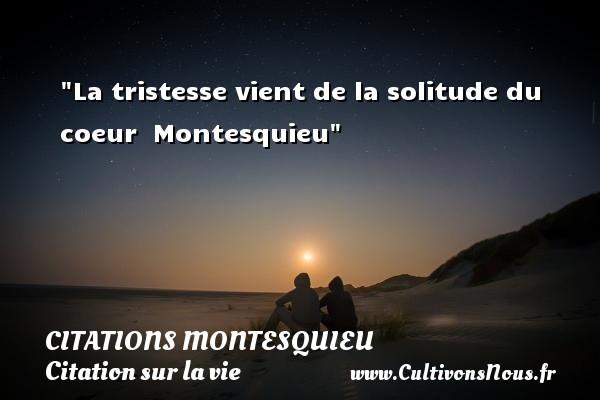 Populaire La tristesse vient de la-Citations Montesquieu - Cultivons nous YU64