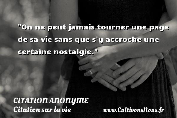 On Ne Peut Jamais Tourner Citation Anonyme Cultivons Nous