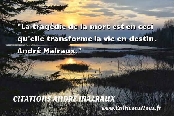 La Tragédie De La Mort Est Citations André Malraux