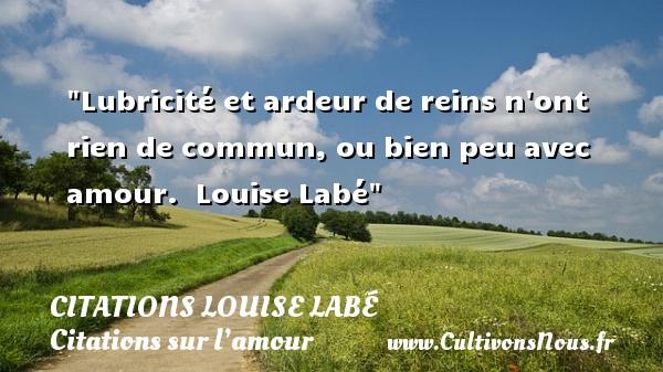 Citations Louise Labé - Citations sur l'amour - Lubricité et ardeur de reins n ont rien de commun, ou bien peu avec amour.   Louise Labé   Une citation sur l amour CITATIONS LOUISE LABÉ