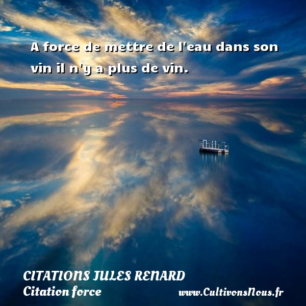 A Force De Mettre De L Eau Citations Jules Renard