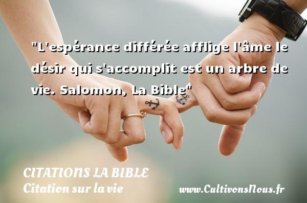 Extrêmement L'espérance différée afflige-Citations la Bible - Cultivons nous ZN14