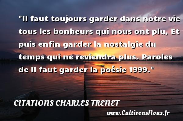 Citation Charles Trenet Les Citations De Charles Trenet