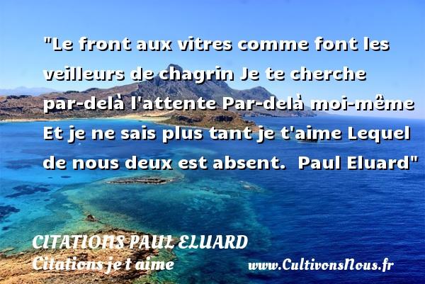 Le Front Aux Vitres Comme Citations Paul Eluard