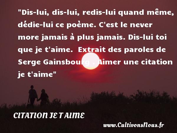 Citation Je T Aime