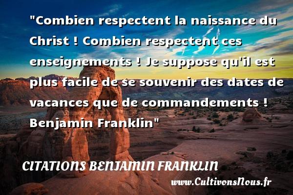 Combien Respectent La Naissance Citations Benjamin