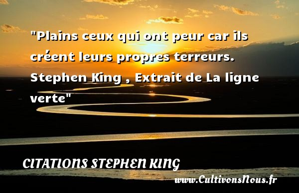 Citations Stephen King Cultivons Nous