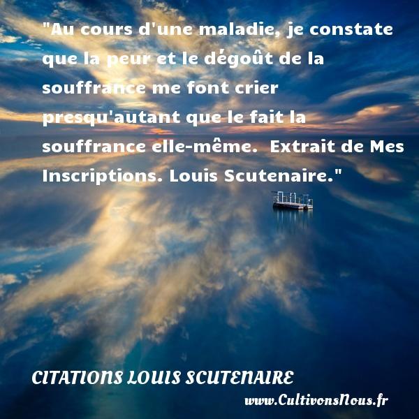 Au cours d 39 une maladie je citations louis scutenaire - Extrait inscription chambre des metiers ...