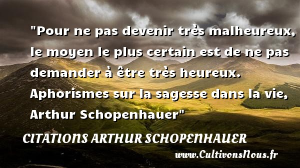 citation arthur schopenhauer les citations de arthur schopenhauer. Black Bedroom Furniture Sets. Home Design Ideas
