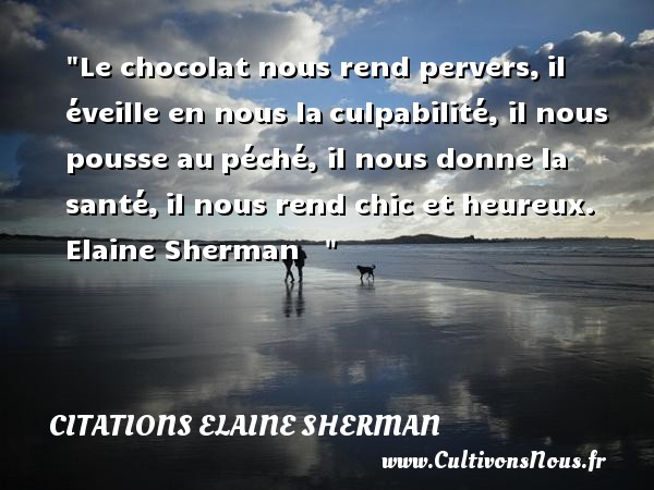 Le Chocolat Nous Rend Pervers Citations Elaine Sherman