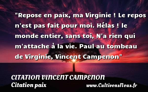 Repose En Paix Ma Virginie Citation Vincent Campenon