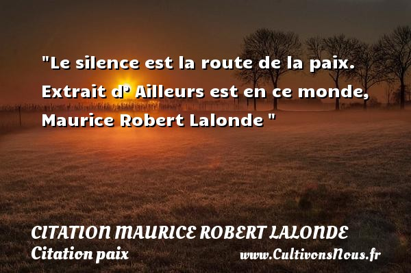 Le Silence Est La Route De La Citation Maurice Robert