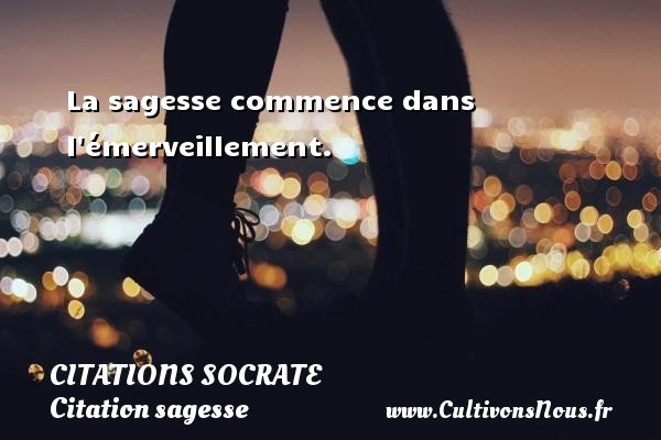 Citations Socrate - Citation sagesse - La sagesse commence dans l émerveillement.     Une citation sur Socrate CITATIONS SOCRATE