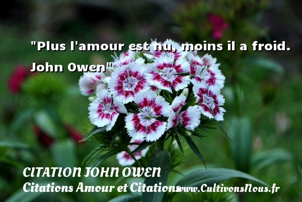 Plus l amour est nu, moins il a froid.   John Owen CITATION JOHN OWEN - Citations Amour et Citations