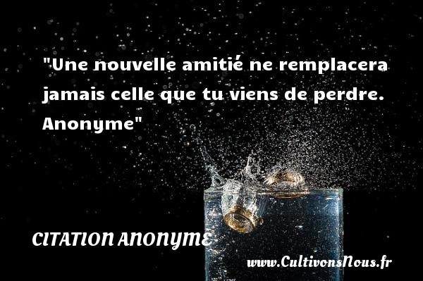 Nouvelle rencontre amitie citation