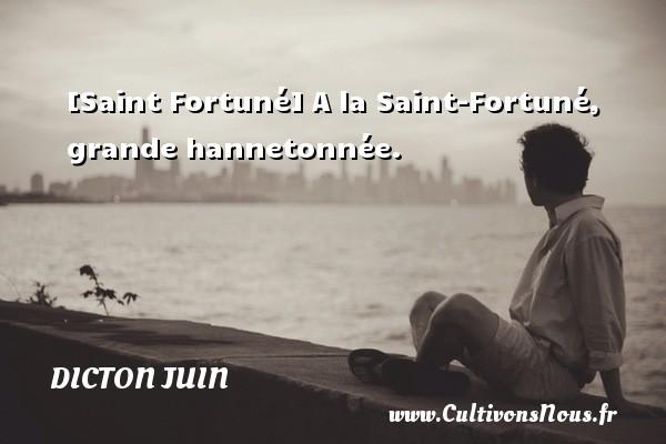 [Saint Fortuné] A la Saint-Fortuné, grande hannetonnée. Un dicton juin
