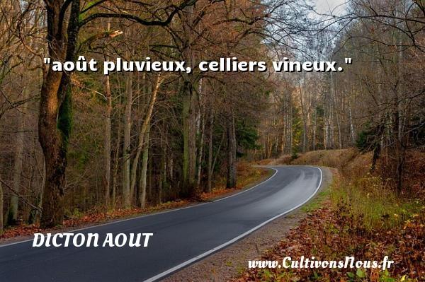 août pluvieux, celliers vineux. Un dicton aout