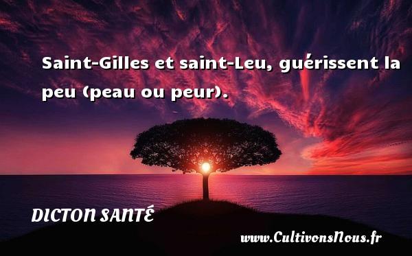 Saint-Gilles et saint-Leu, guérissent la peu (peau ou peur). Un dicton santé DICTON SANTÉ