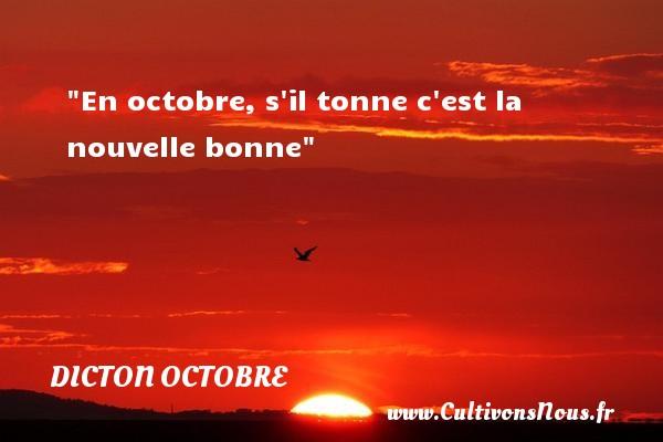 En octobre, s il tonne c est la nouvelle bonne Un dicton octobre