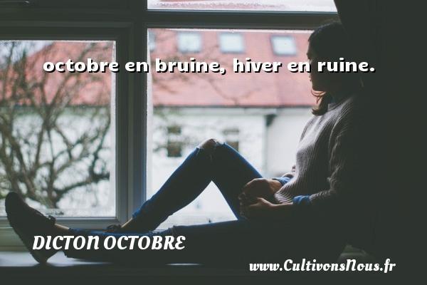 octobre en bruine, hiver en ruine. Un dicton octobre