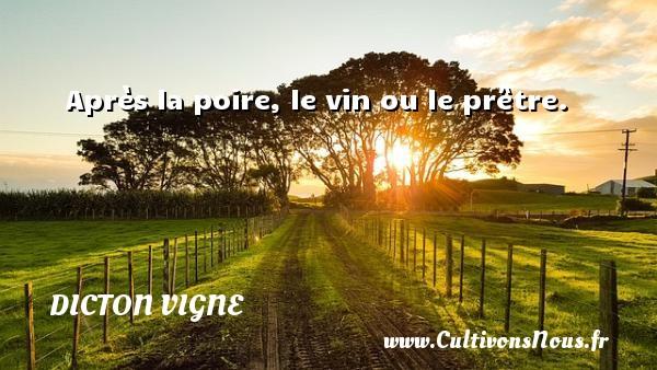 Après la poire, le vin ou le prêtre. Un dicton vigne