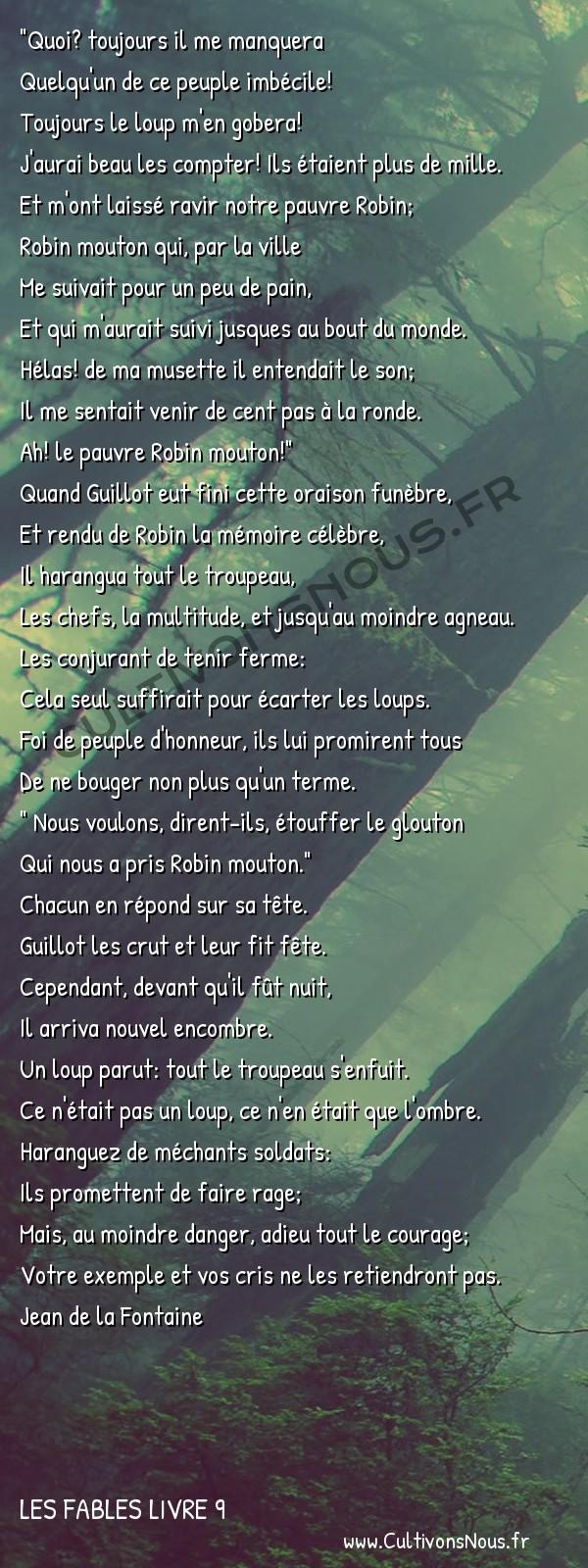 Fables Jean de la Fontaine - Les fables Livre 9 - Le Berger et son troupeau -