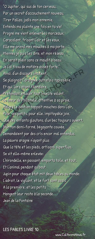Fables Jean de la Fontaine - Les fables Livre 10 - L'Araignée et l'Hirondelle -
