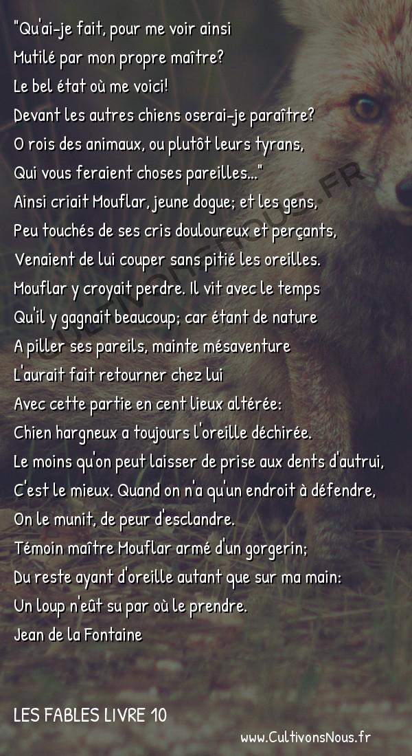 Fables Jean de la Fontaine - Les fables Livre 10 - Le Chien à qui on a coupé les oreilles -