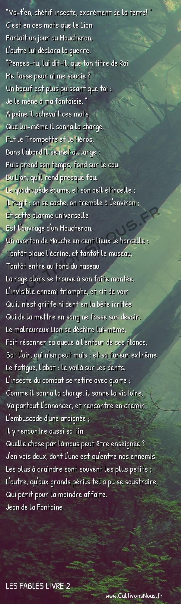 Fables Jean de la Fontaine - Les fables Livre 2 - Le Lion et le Moucheron -