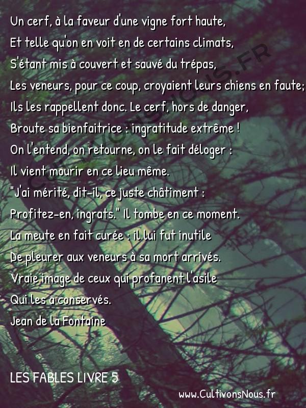 Le Cerf Et La Vigne Fables Jean De La Fontaine Les Fables
