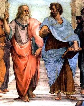 Aristote et son maitre Platon