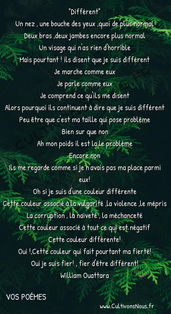 Poésies contemporaines - Vos poémes - Différent -