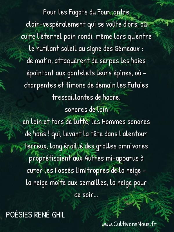 Poésies René Ghil - Dire du mieux -  Pour les Fagots du Four, antre clair-vespéralement qui se voûte d'ors, où